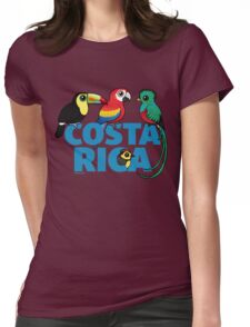 Cute Costa Rica Birds by Birdorable Womens Fitted T-Shirt