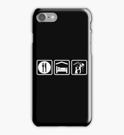 Funny Gambling Addict Eat Sleep Gamble iPhone Case/Skin