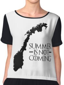 Summer is NOT coming - norway(black text) Chiffon Top