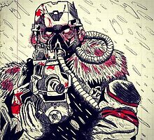 Killzone Helghast draw by Javiersp