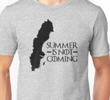 Summer is NOT coming - sweden(black text) Unisex T-Shirt