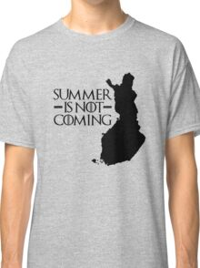 Summer is NOT coming - finland(black text) Classic T-Shirt