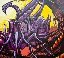Graffiti Art Scorpion by yurix