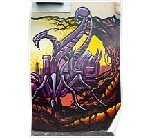 Graffiti Art Scorpion Poster