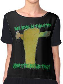 ATG stevens believe in the hype spork t shirt Chiffon Top