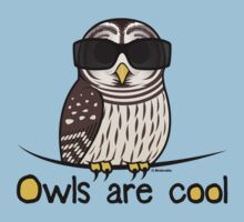 Owls are Cool by Birdorable Kids Tee