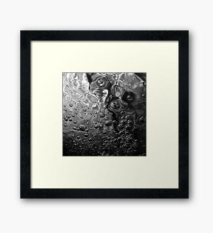 Toil & Trouble - Black & White Framed Print