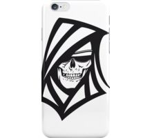 Death hooded sweatshirt creepy sunglasses iPhone Case/Skin