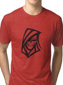 Death hooded sweatshirt creepy sunglasses Tri-blend T-Shirt