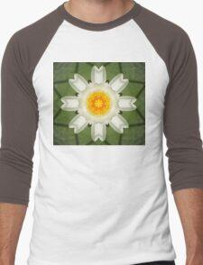 Mandala of Water Lilly Men's Baseball ¾ T-Shirt