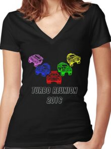 Turbo Reunion 2016 (Zords) Women's Fitted V-Neck T-Shirt