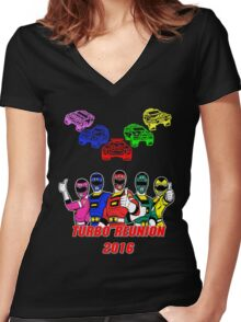 Turbo Reunion 2016 (Rangers and Zords) Women's Fitted V-Neck T-Shirt