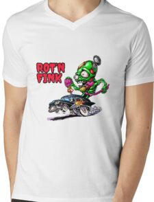 ROT'N FINK Mens V-Neck T-Shirt