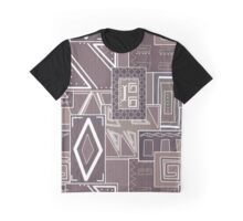 Colorful geometric pattern cocoa color. Graphic T-Shirt