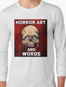 HORROR ART AND WORDS  Long Sleeve T-Shirt