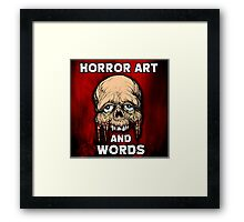 HORROR ART AND WORDS  Framed Print