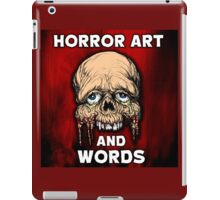 HORROR ART AND WORDS  iPad Case/Skin