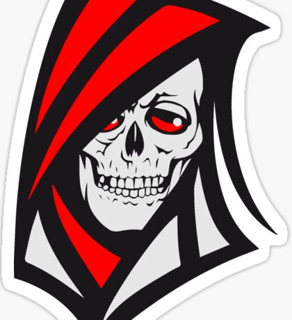 Death hooded sweatshirt grusel Sticker