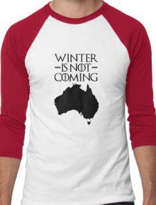 Winter is not Coming - australia(black text) Men's Baseball ¾ T-Shirt
