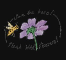 Save The Bees! Plant Wild Flowers! One Piece - Long Sleeve