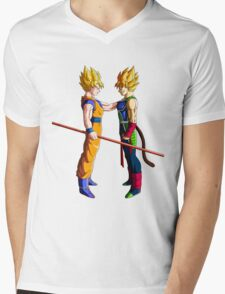 Father and Son Mens V-Neck T-Shirt
