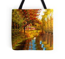 House on Pine River,Wisconsin U.S.A. Tote Bag