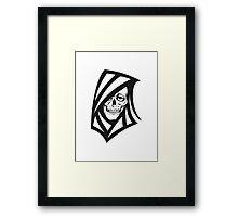 Death hooded sweatshirt grusel Framed Print