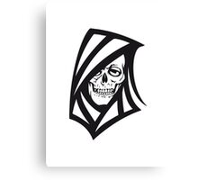 Death hooded sweatshirt grusel Canvas Print