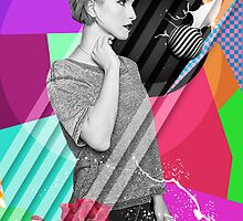 Hayley Williams Abstract Poster by tjseesxe