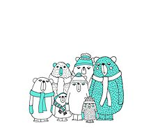 Bear Gang Photographic Print