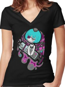 Mortal Nurse by Lolita Tequila Women's Fitted V-Neck T-Shirt