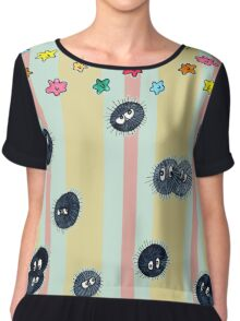 Soot Sprites with Star Candy and Stripes  Chiffon Top