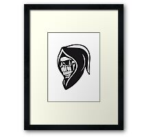 Death hooded sweatshirt angry sunglasses Framed Print