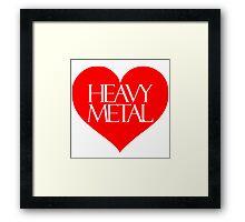 Heavy Metal Love Framed Print