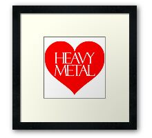 Heavy Metal Love Framed Print