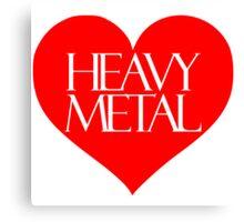 Heavy Metal Love Canvas Print