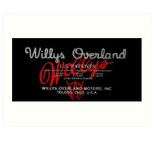 Willys Overland Corporation  Art Print