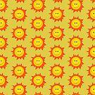 Happy Smiling Sun Pattern Case by Boriana Giormova