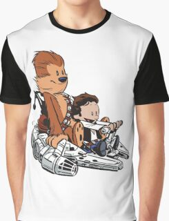 Chewie And Han Calvin And Bobbes Graphic T-Shirt