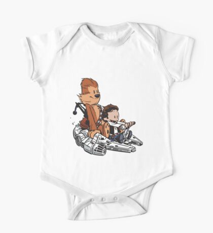 Chewie And Han Calvin And Bobbes One Piece - Short Sleeve