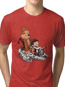 Chewie And Han Calvin And Bobbes Tri-blend T-Shirt