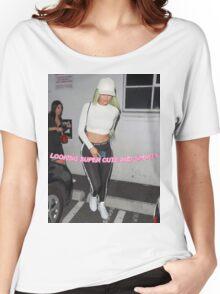 Kylie Jenner Glitter Text (XL) Women's Relaxed Fit T-Shirt