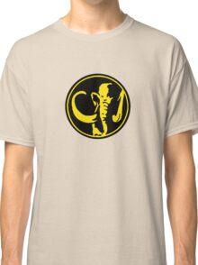 Mighty Morphin Power Rangers Black Ranger Symbol Classic T-Shirt