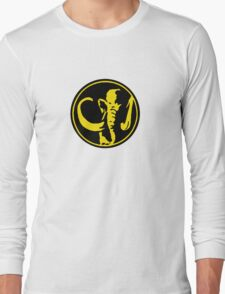 Mighty Morphin Power Rangers Black Ranger Symbol Long Sleeve T-Shirt