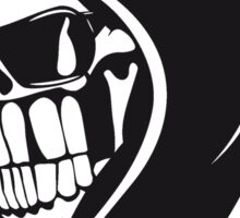 Death hooded sweatshirt angry sunglasses Sticker