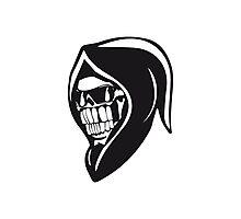 Death hooded sweatshirt angry sunglasses Photographic Print