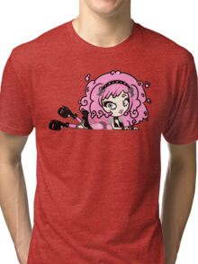 Cotton Candy Girl 2 by Lolita Tequila Tri-blend T-Shirt