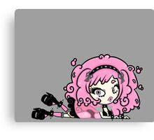 Cotton Candy Girl 2 by Lolita Tequila Canvas Print