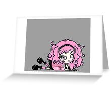 Cotton Candy Girl 2 by Lolita Tequila Greeting Card