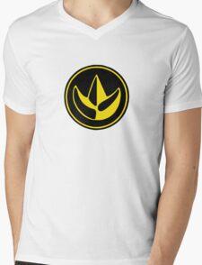 Mighty Morphin Power Rangers Green Ranger Symbol Mens V-Neck T-Shirt